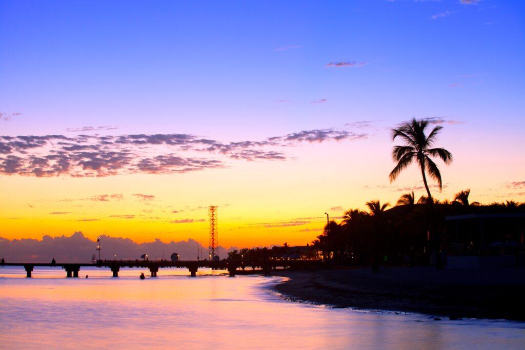 A beautiful sunset over Key West, Florida.