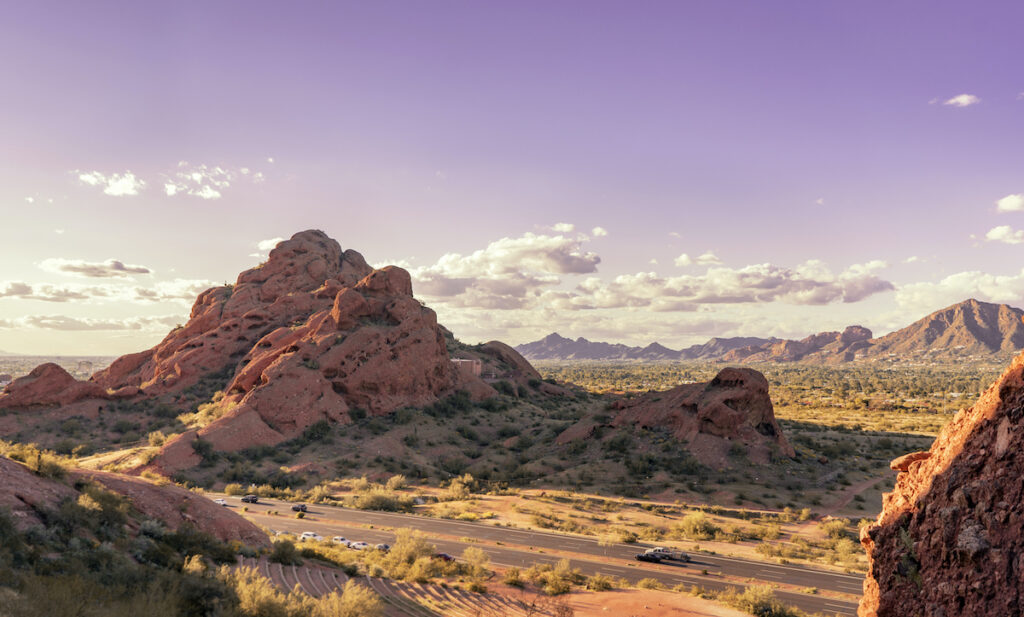 A beautiful view of Papago Park in Arizona.