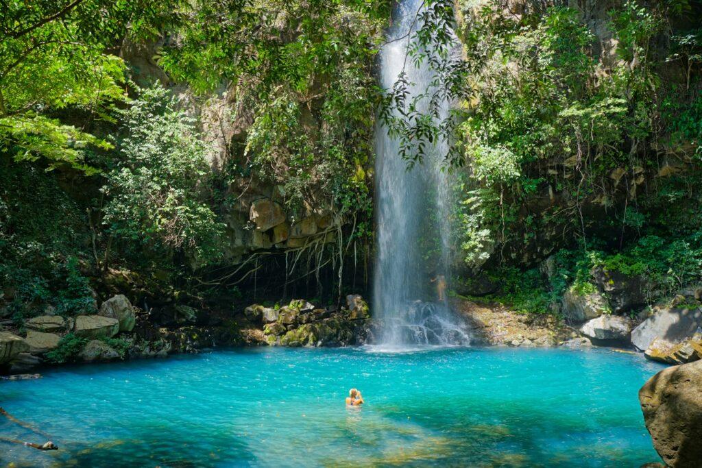A beautiful waterfall in Costa Rica.
