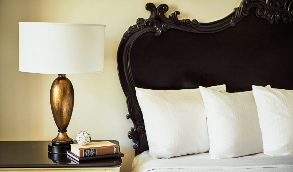 A bed at the French Quarter Inn.