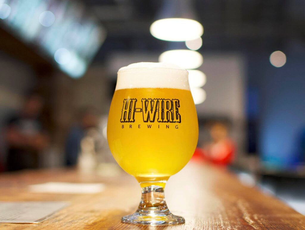 A beer at Hi-Wire Brewing in Asheville.