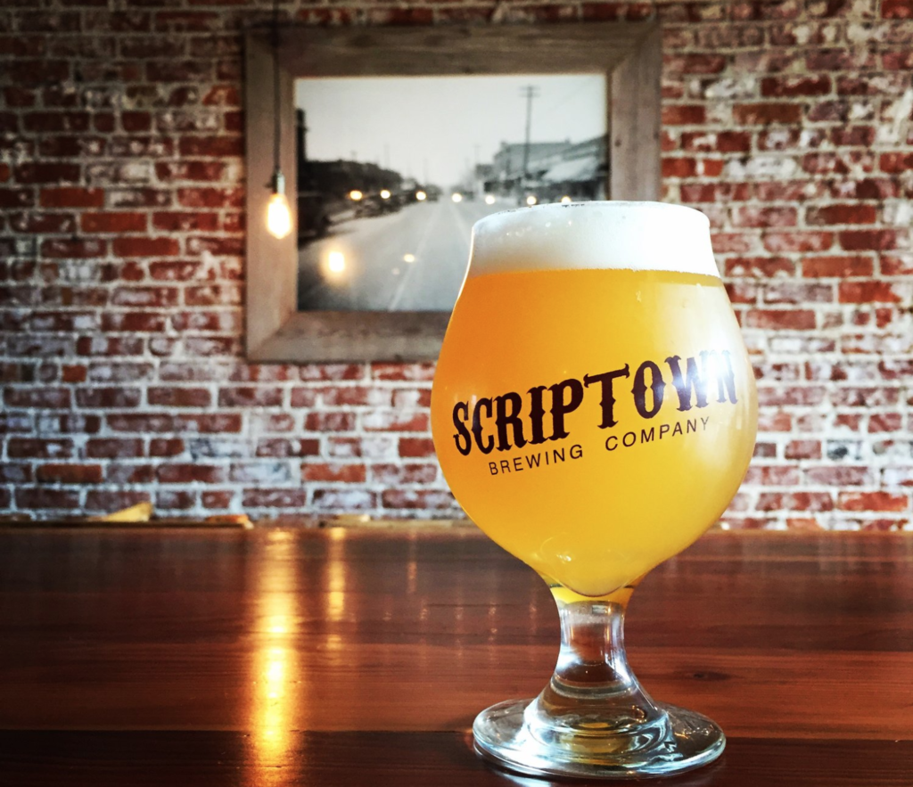 A beer from Scriptown Brewing Company.