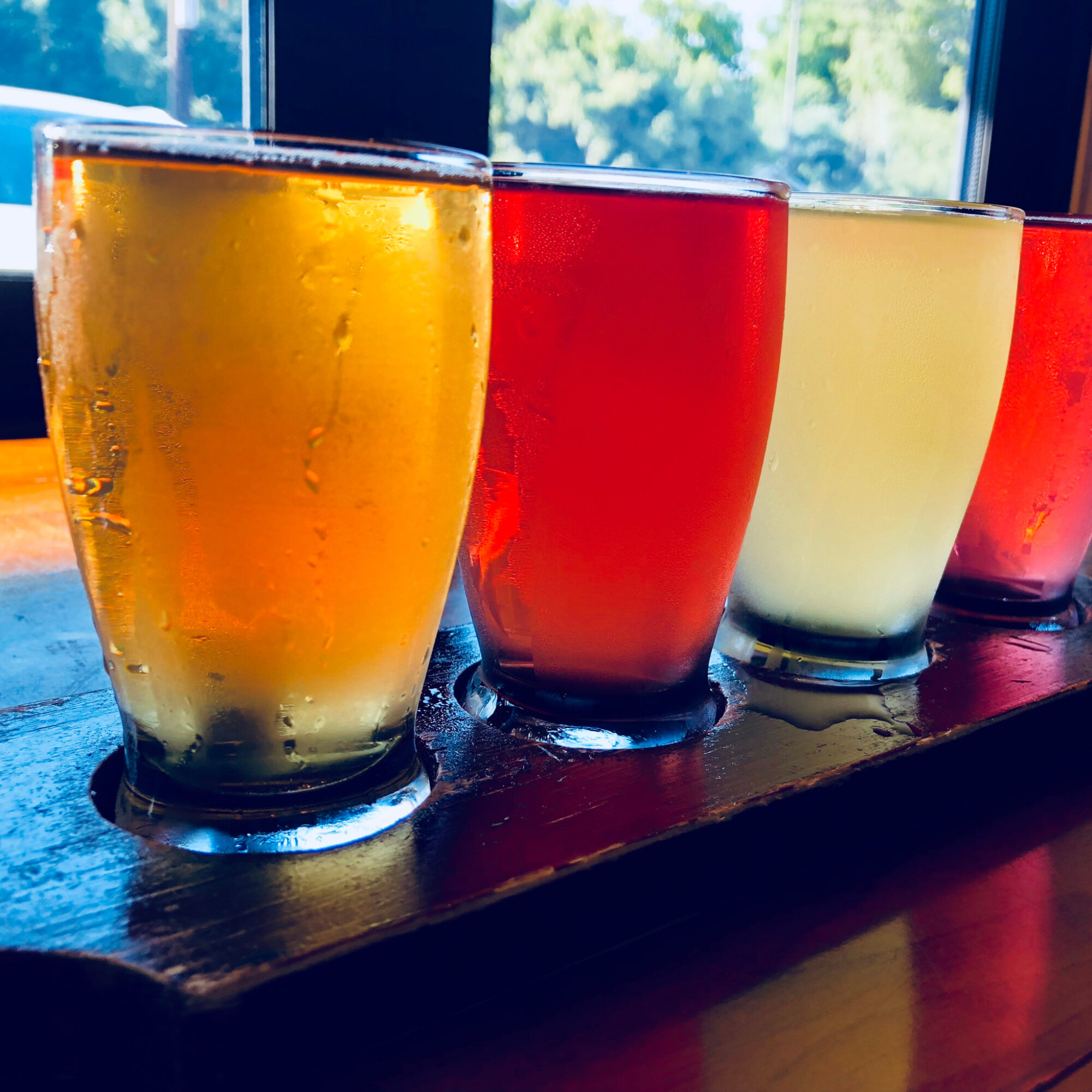 A beer tasting in Asheville, North Carolina.