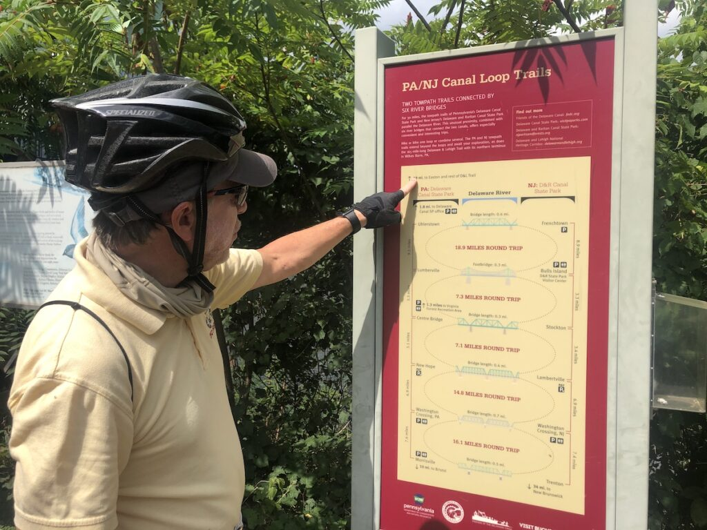 A bicycle tour along the Delaware Canal Towpath.
