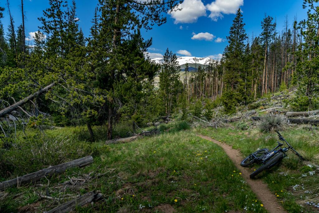 A bike trail in Breckenridge, Colorado.