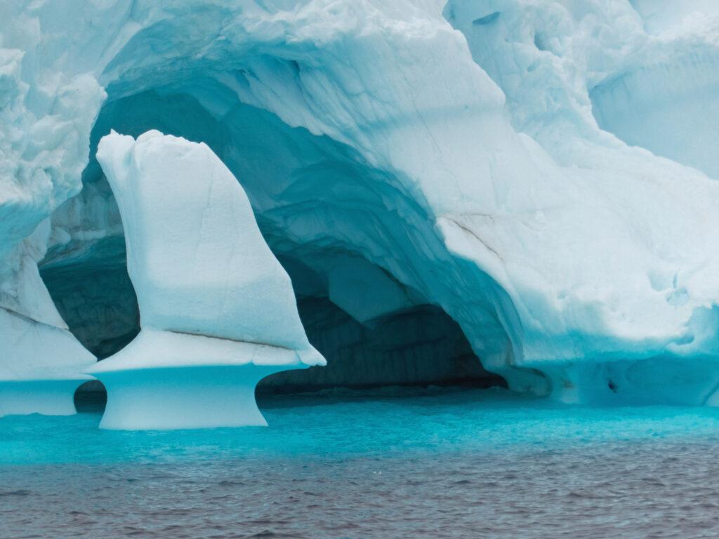 A blue iceberg in Greenland.
