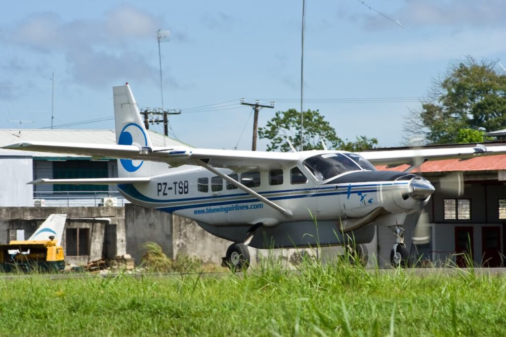 A Blue Wing plane from Suriname.