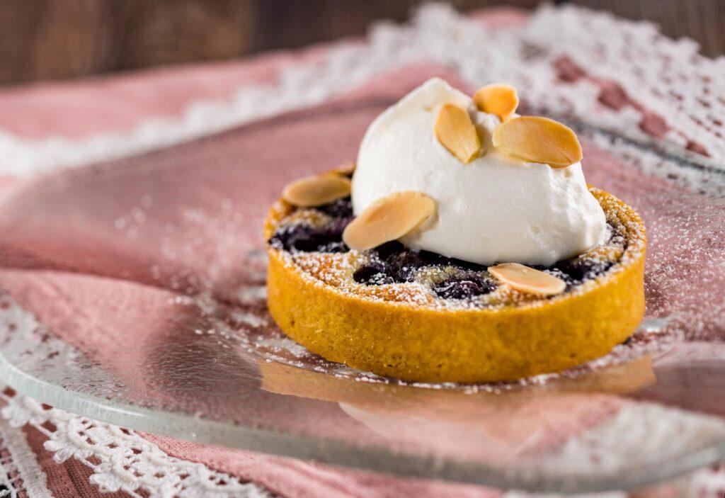 A Blueberry and Almond Frangipane Tart.