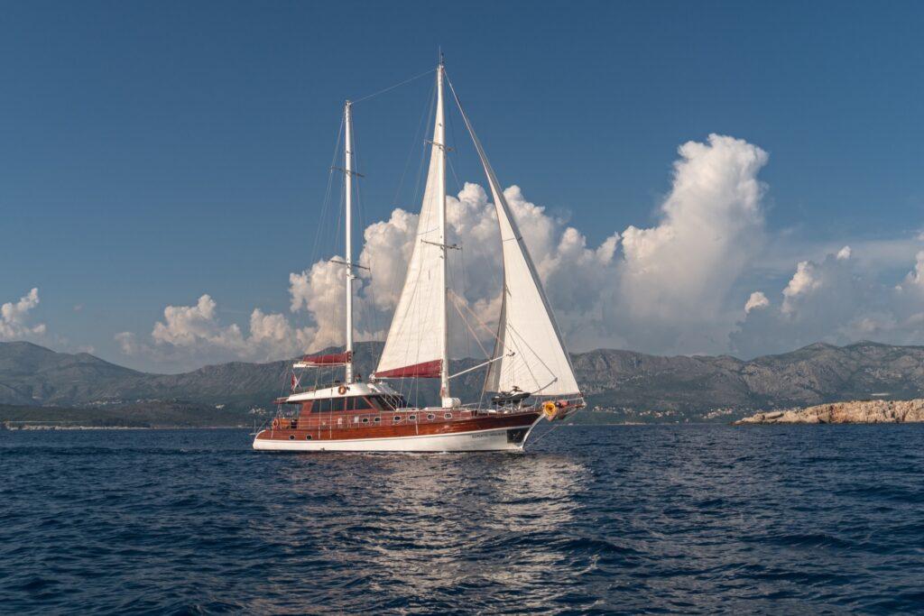 A boat on the coast of Croatia.