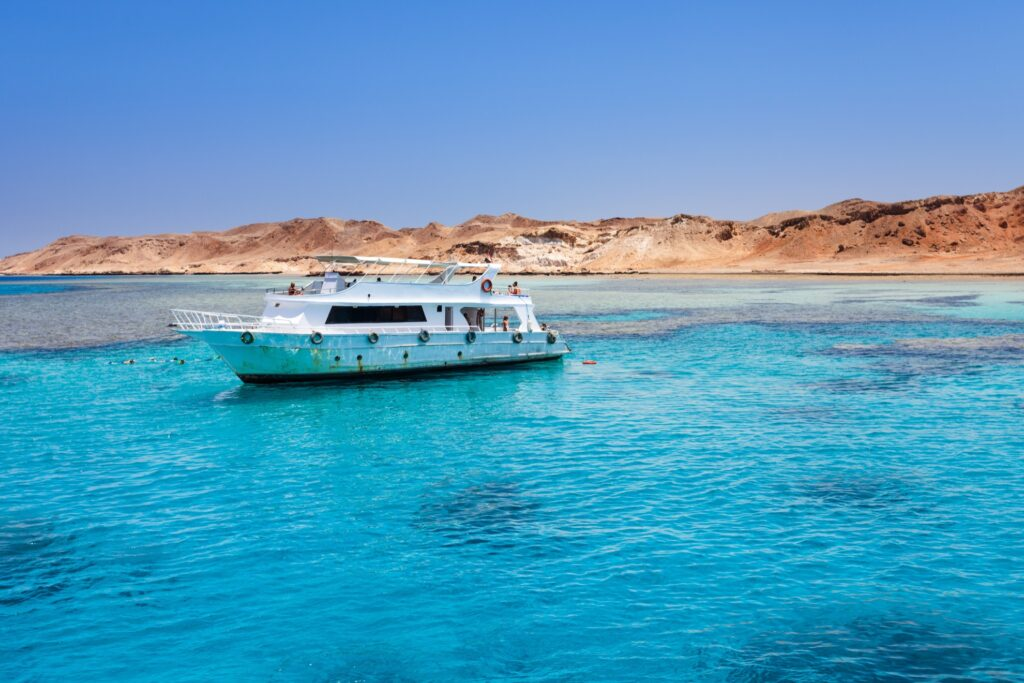 A boat on the Red Sea.