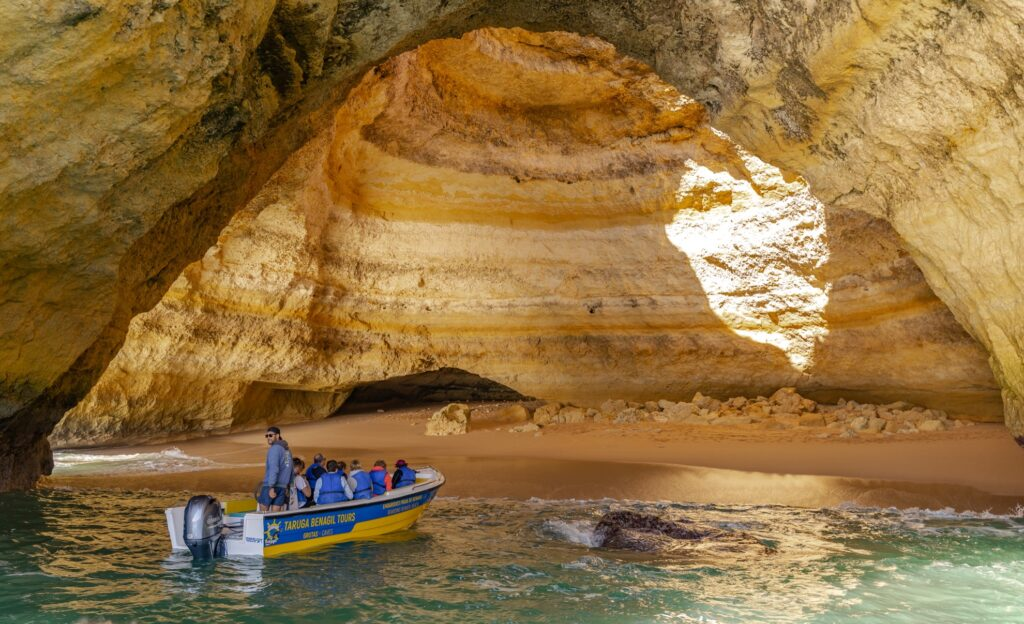 A boat tour of the Benagil Caves.