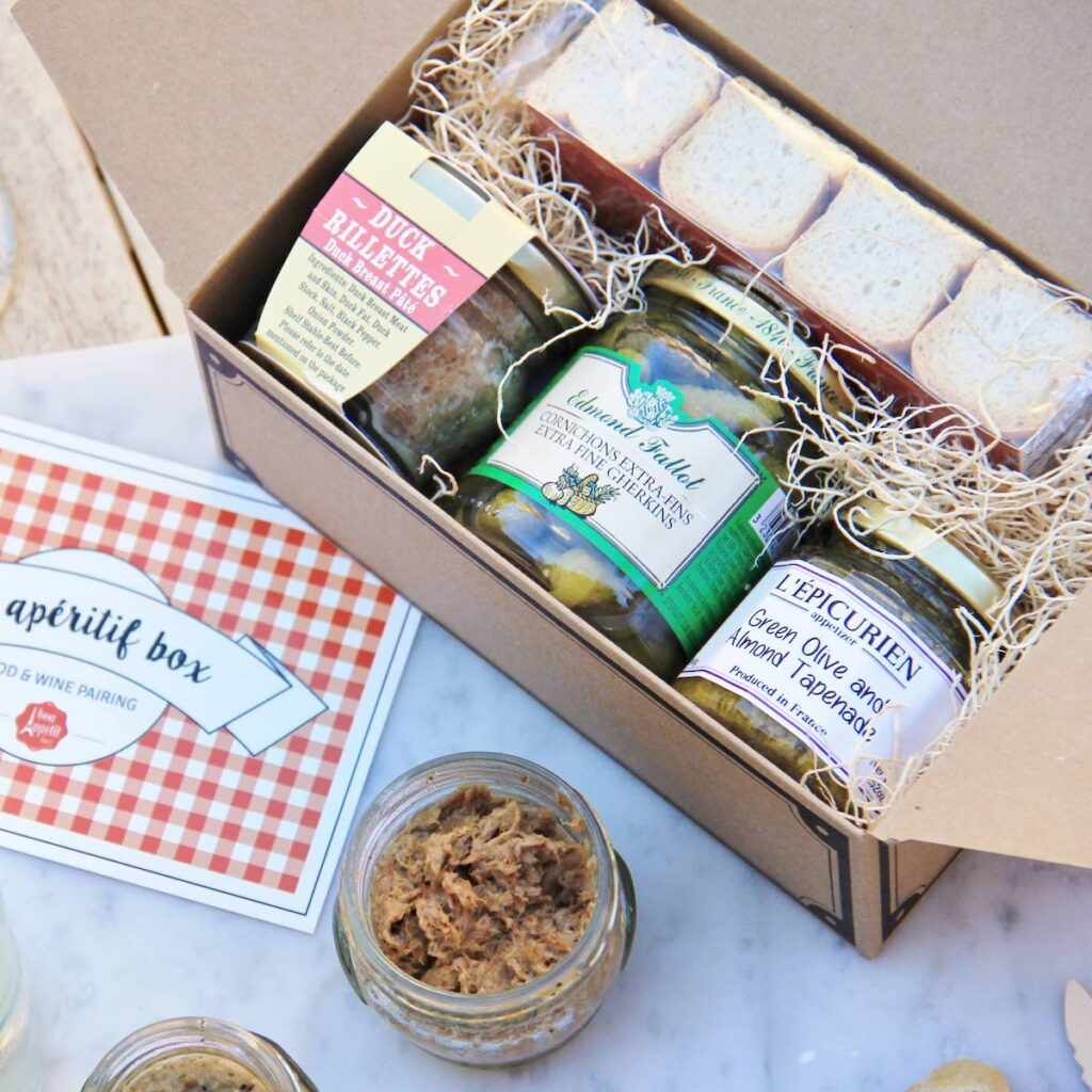 A Bon Appetit Box with products from France.