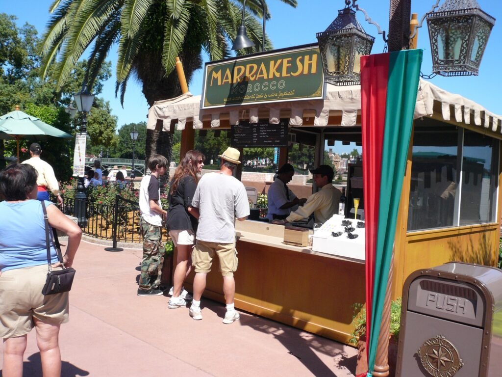 A booth at the Epcot Food and Wine Festival.