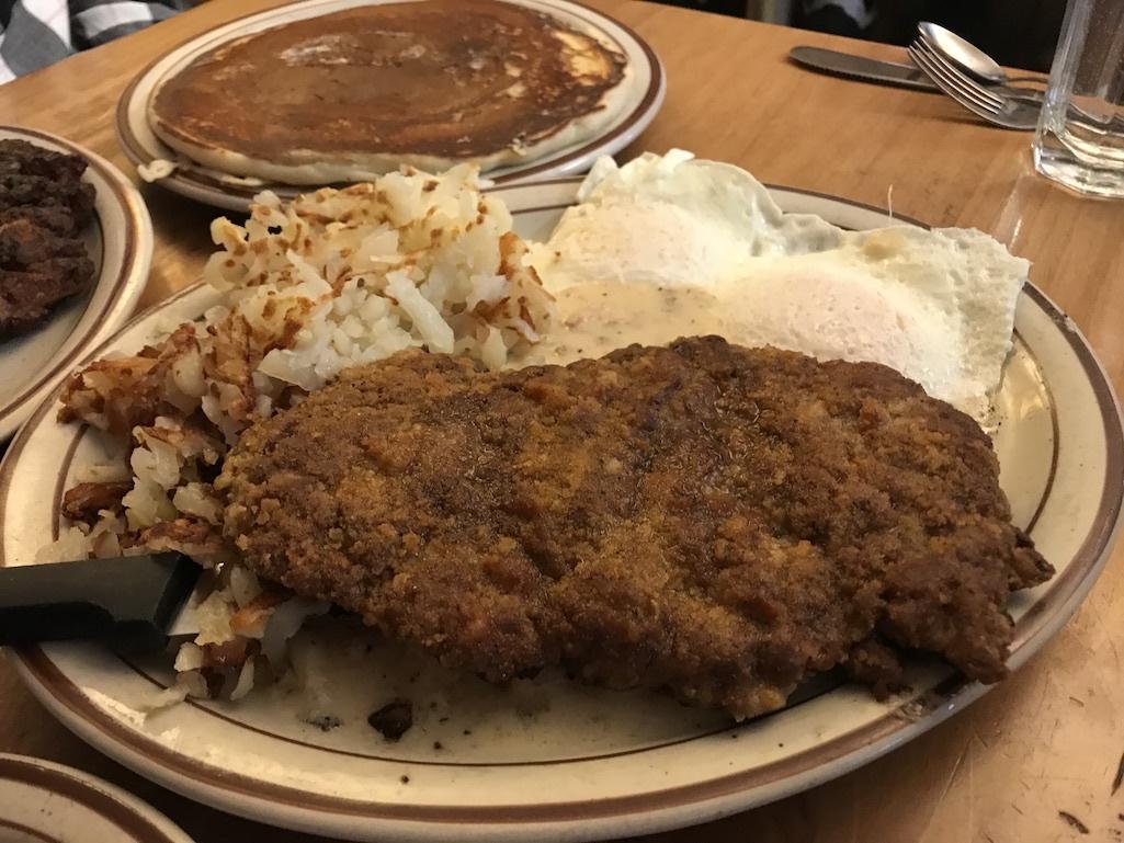 A breakfast platter from Bozeman, Montana.