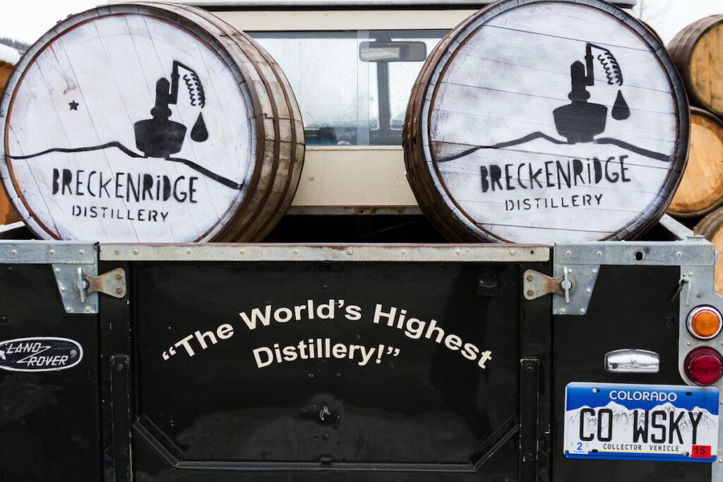 A Breckenridge Distillery truck in Breckenridge, Colorado.