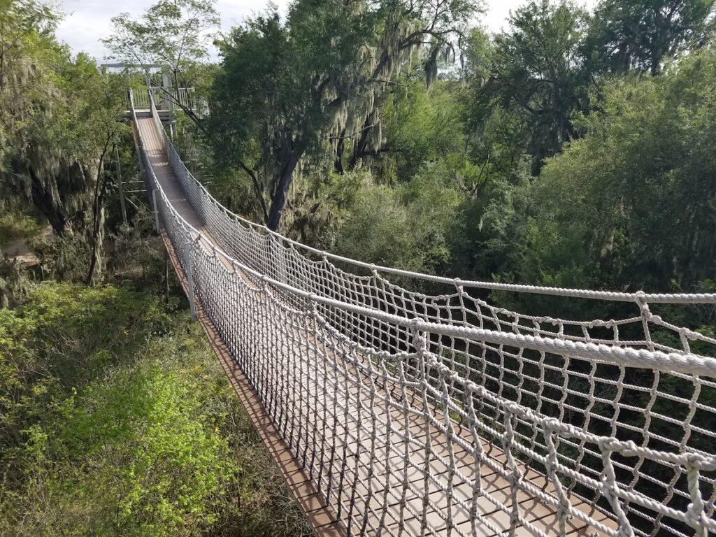 A bridge at the Santa Ana National Wildlife Refuge.