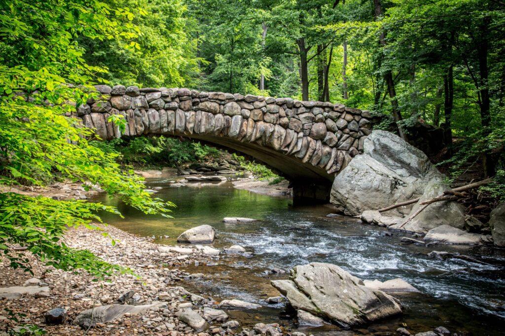 A bridge in Rock Creek Park.