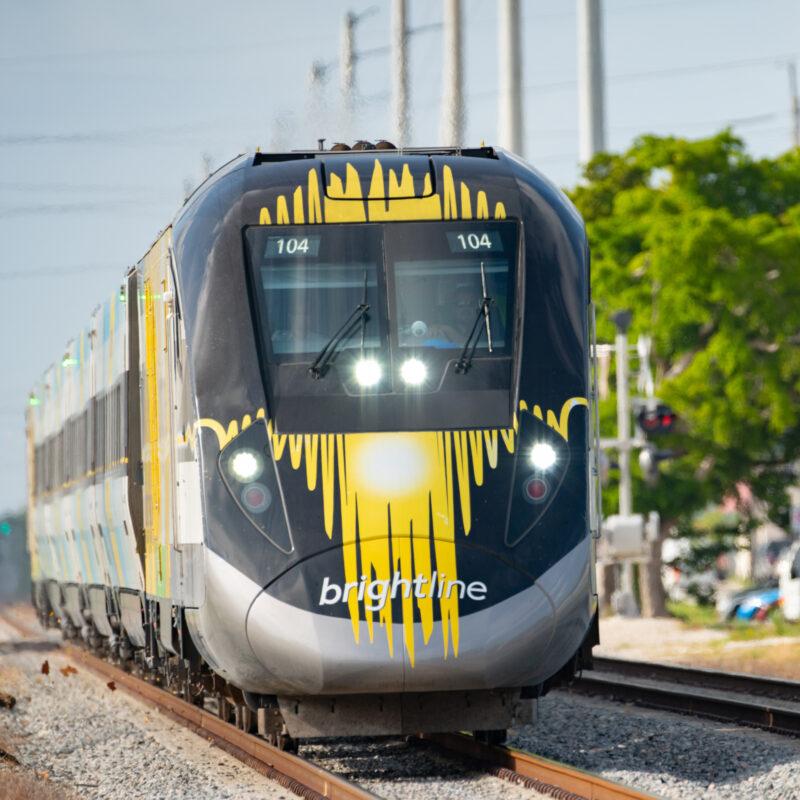 A Brightline train in Florida.