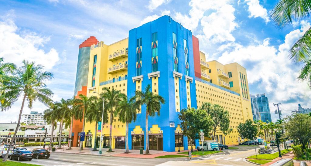A building in Miami's Art Deco District.
