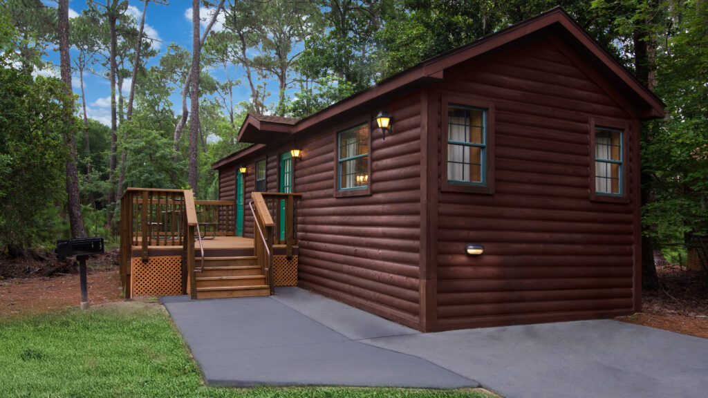 A cabin at Disney's Fort Wilderness campground.