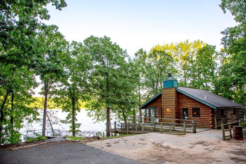 A cabin at Greenleaf State Park.