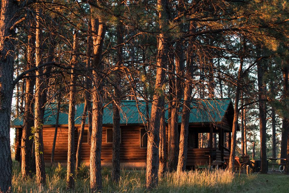 A cabin at Heartland Elk Guest Ranch.