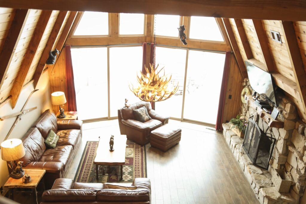 A cabin in Big Bear, California.