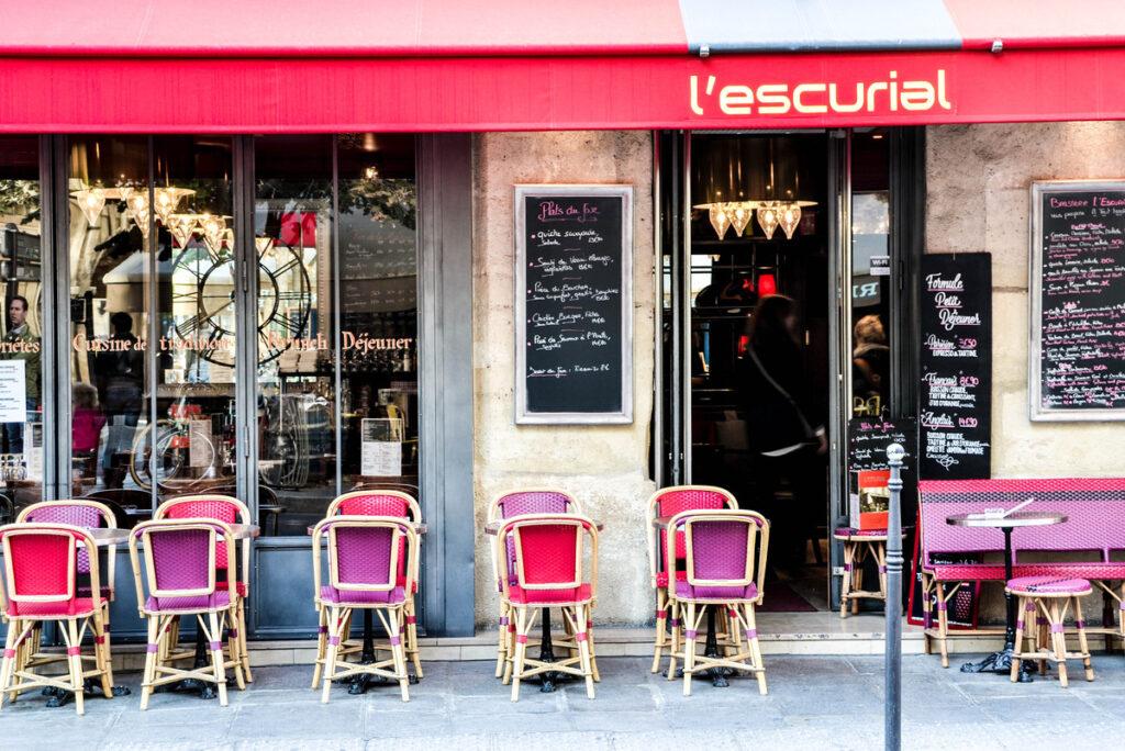 A cafe in Le Marais, Paris.