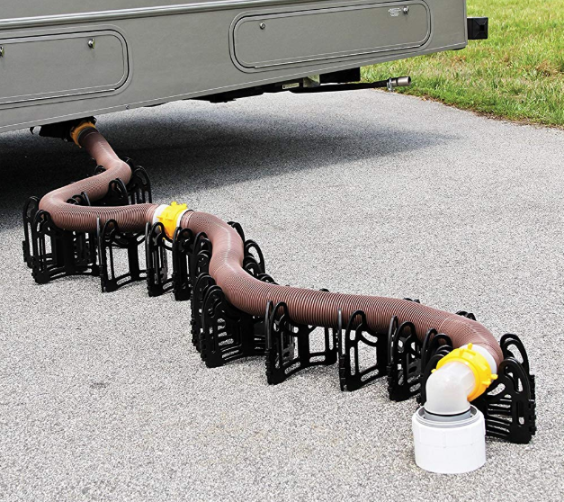 A Camco 15 Feet 15ft Sidewinder RV Sewer Support.