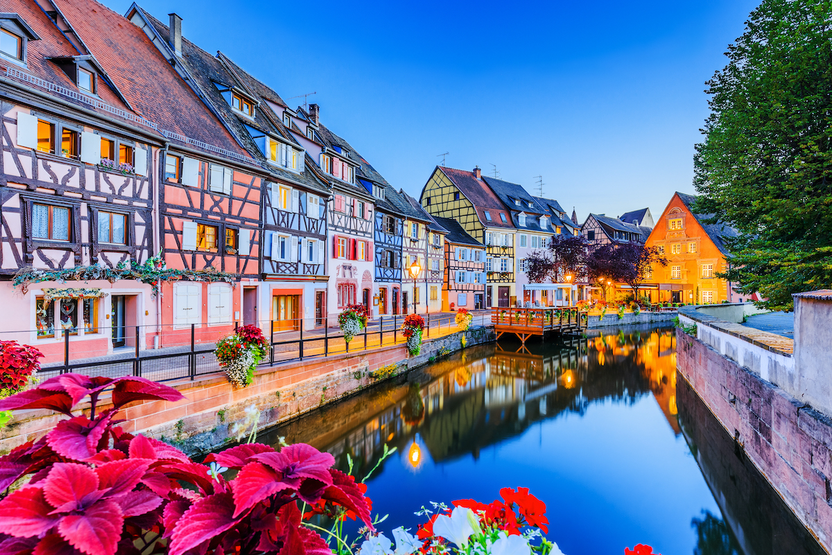 A canal in Colmar, France.