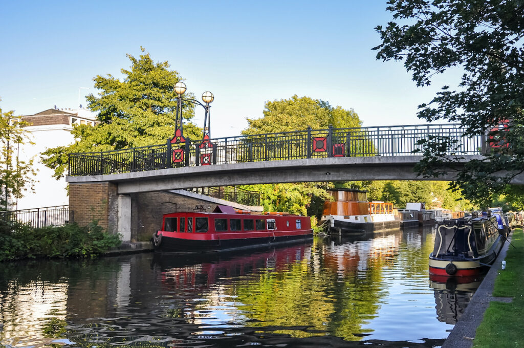 A canal in London's Little Venice.