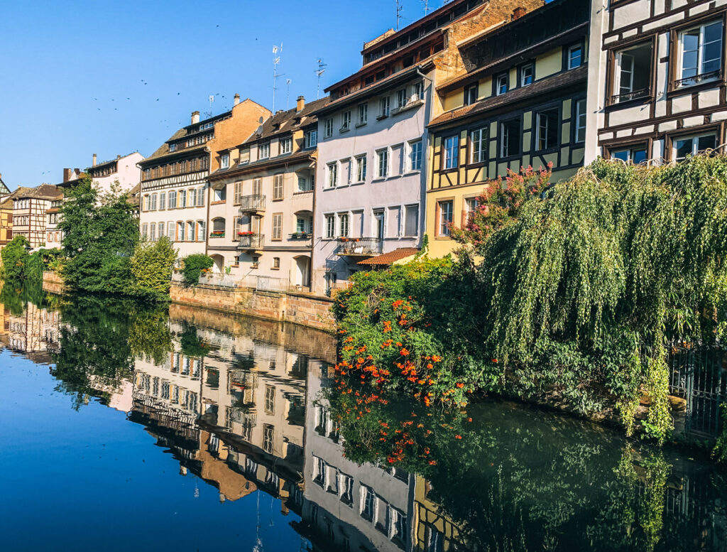 A canal in Strasbourg, France.
