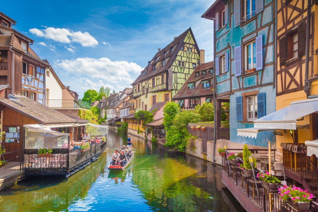 A canal through Colmar, France.