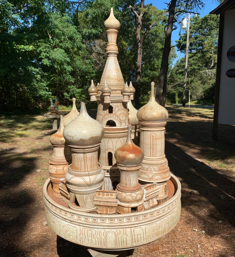 A castle from Scargo Pottery in Cape Cod.