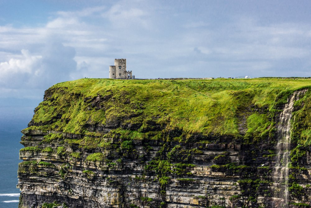 A castle on the Cliffs of Moher.