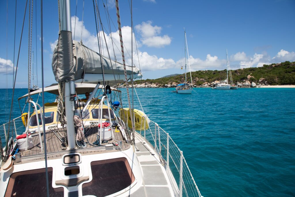 A chartered boat in the British Virgin Islands.