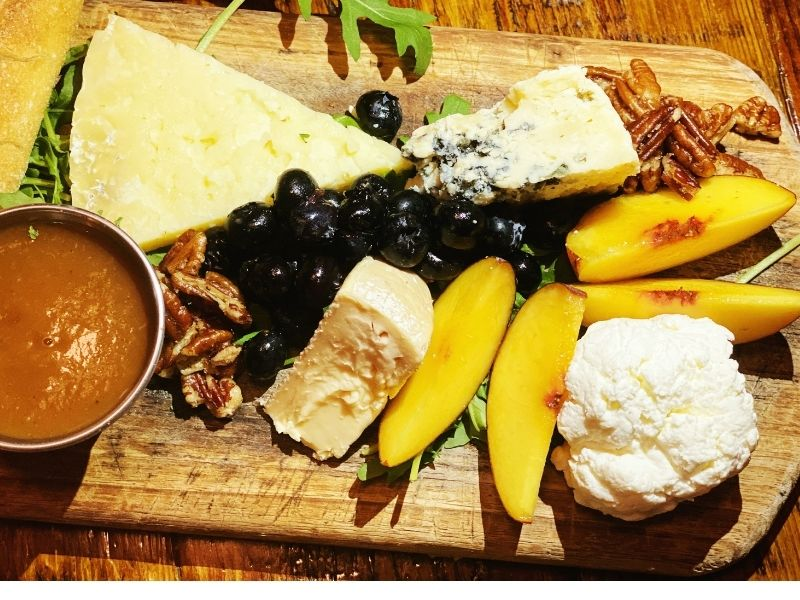 A cheese board from The Floridian in St. Augustine.