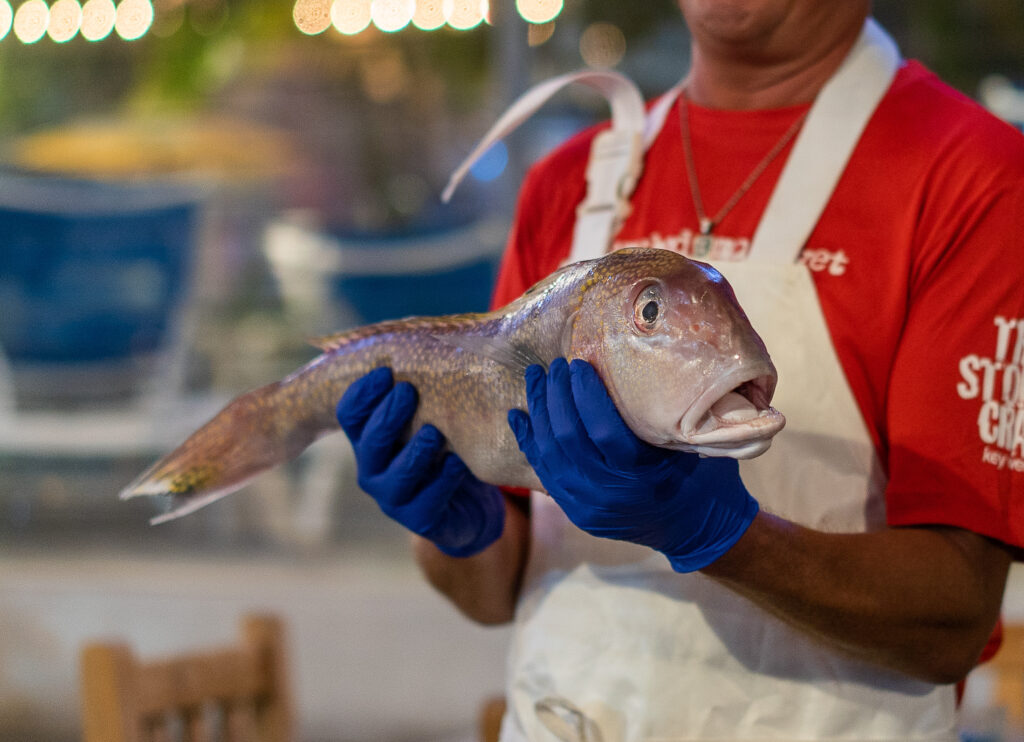 A chef at The Stoned Crab in Florida.