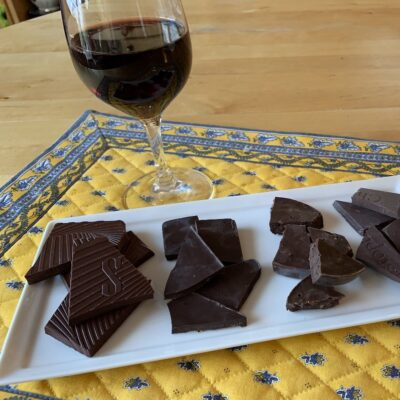 A chocolate and wine pairing the writers reccommend.