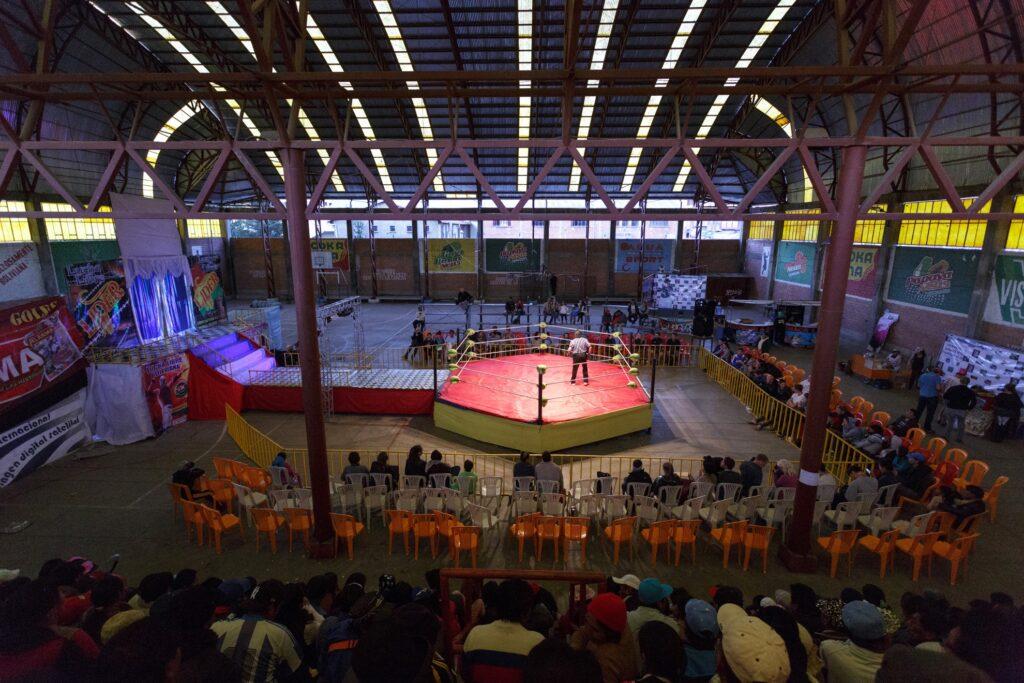 A Cholitas Wrestling match in La Paz.