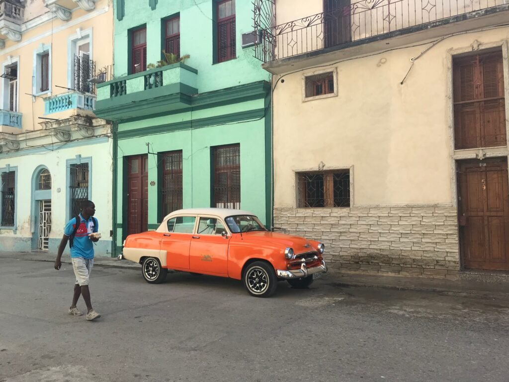 A classic car on the streets of Havana.