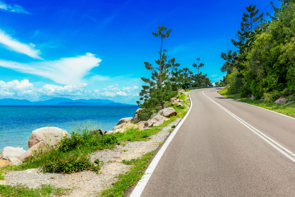 A coastal road on Magnetic Island, Australia