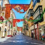 A colorful street in Malta.
