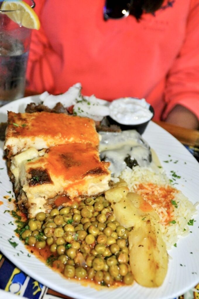 A Combination Platter from Hellas Greek in Florida.