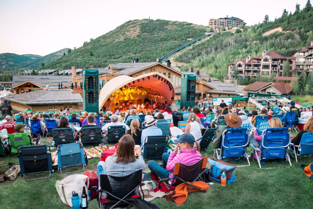 A concert at Deer Valley Amphitheater.
