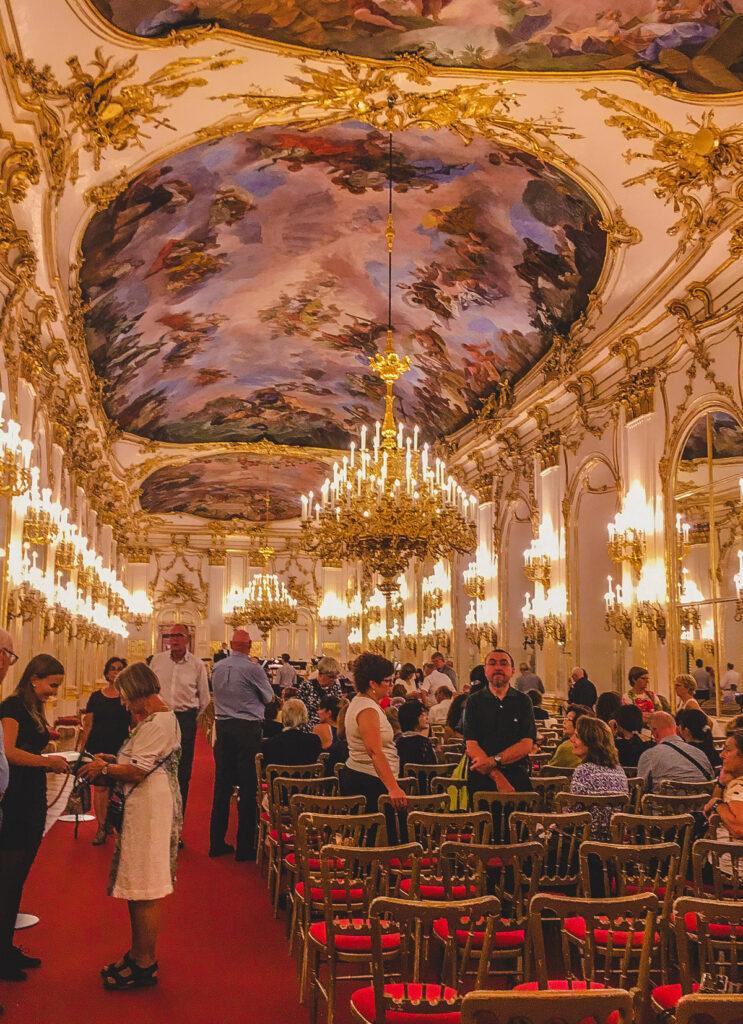 A concert at Schoenbrunn Palace in Vienna.