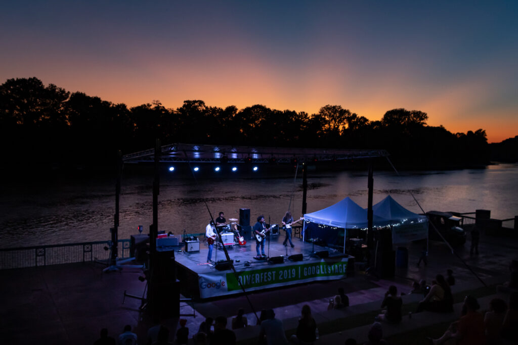 A concert during Riverfest in Clarksville, Tennessee.
