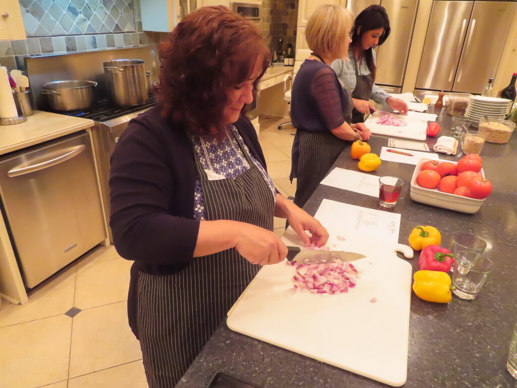 A cooking class at L'ecole de la Maison.