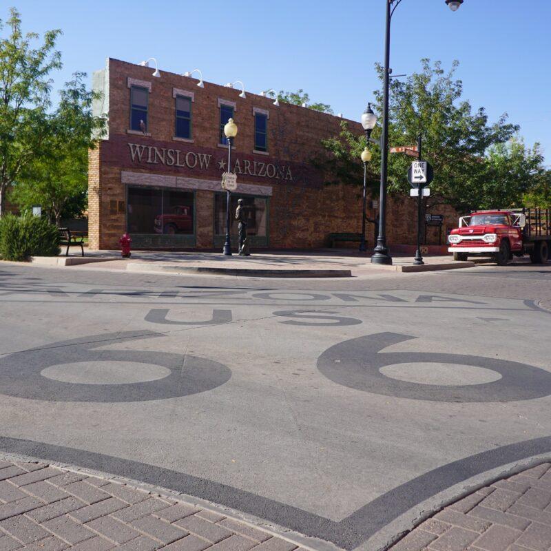 A corner in Winslow, Arizona.