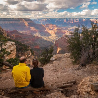 A couple admiring the views at Grand Canyon National Park.